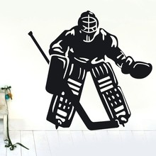 Free Shipping-decor sticker ice hockey player II sports Wall Decor Removable Vinyl Decal wall Sticker Art home decoration