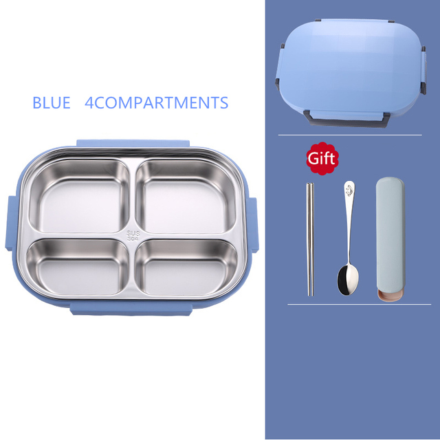 Blue 4compartment Cheap bento boxes 5c6479e2edeb1