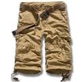 2015 Hot Sale Summer Men's Army Cargo Work Casual Bermuda Shorts Men Fashion Trousers 100% cotton shorts  free shipping