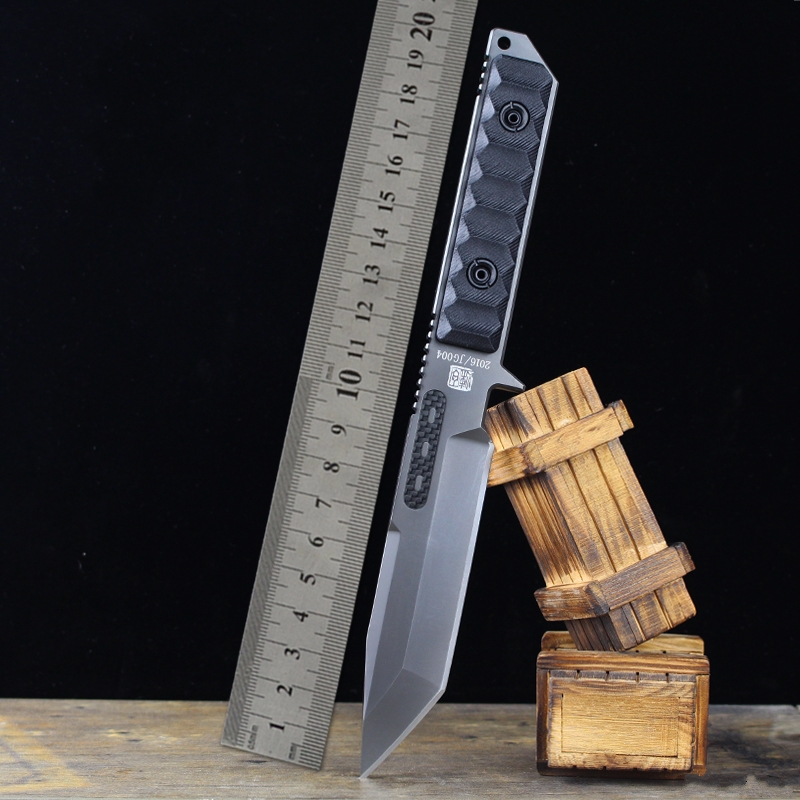 Very sharp High-end Brush Finish DD9CR18MOV Blade Fixed Tactical Knife, Edge Survival Knives Fixed Blade High hardness knife hx small mercenary survival hunting knife d2 steel blade fixed blade knife straight camping knives multi tactical hand tools