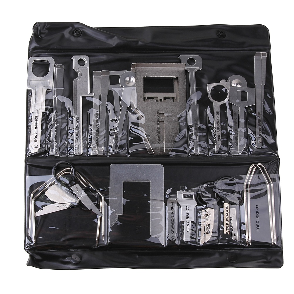 38Pcs/Set Vehicle Car Stereo Radio Release Removal Tools Key Kit With Bag Kenwood Tool Fit For Benz Ford Audi