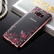 Berlian Imitasi Case untuk Samsung Galaxy S4 S5 Neo S6 S7 Edge S8 Plus Catatan 3 4 5 8 J3 J5 j7 2015 2016 2017 Cover Plating Frame(China)