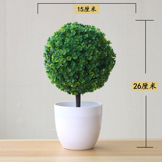 NEW Artificial Plants Bonsai Small Tree Pot Plants Fake Flowers Potted Ornaments For Home Decoration Hotel Garden Decor 2
