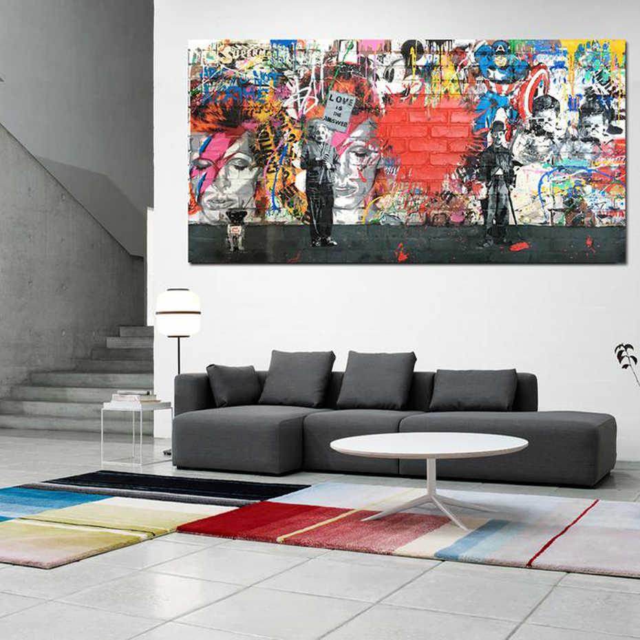 Love is the Answer абстрактный граффити холст живопись плакат и принты Европа поп настенные художественные картины для украшения гостиной