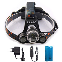 T6 Xm L Led Headlight 5000Lm Headlamp Flashlight Head Torch Linterna Cree Xml T6 With 18650