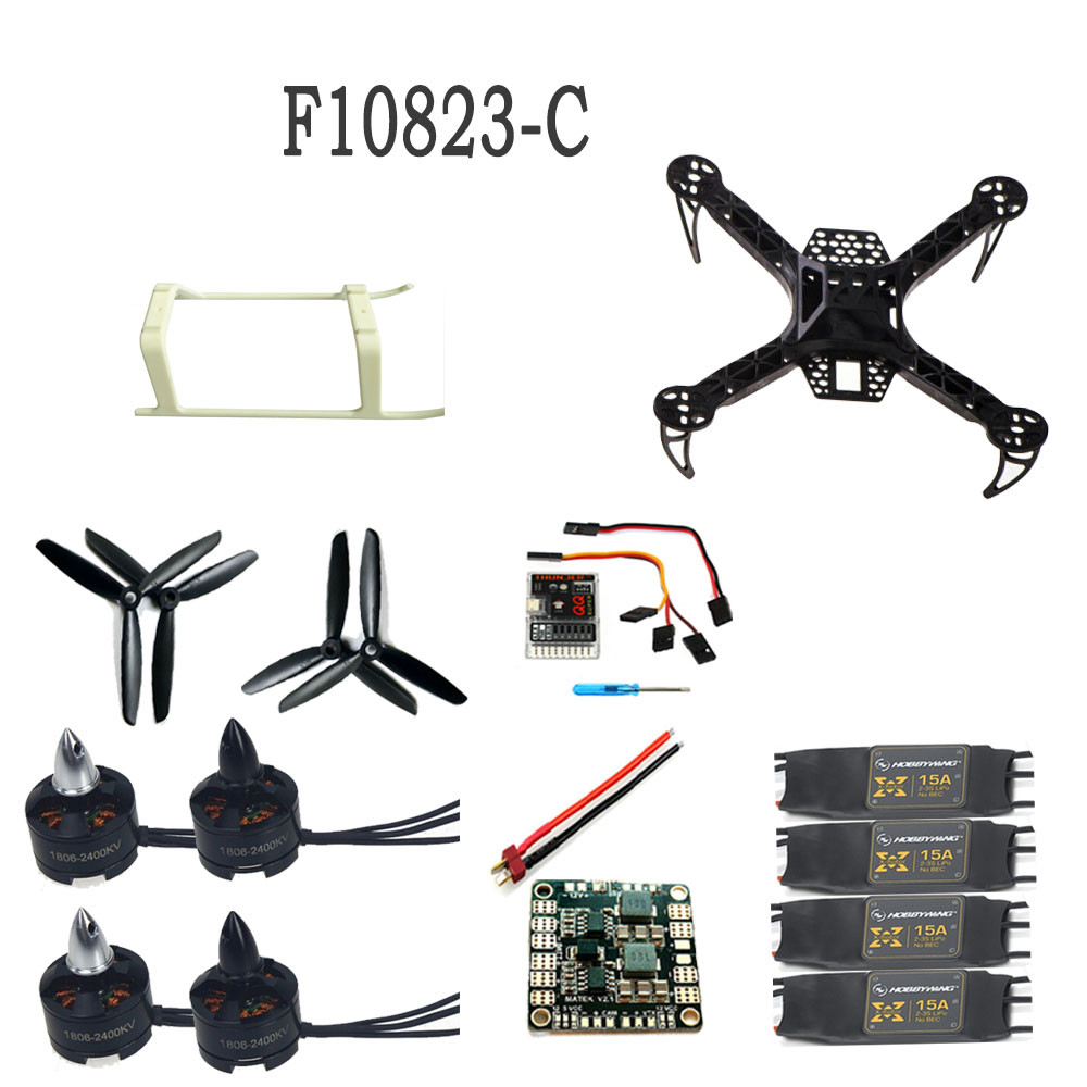 цены F10823-C Mini KK 260 RC Quadcopter 4-Axis Integrated Frame RTF Helicopter Drone Kit NO TX&RX Adapter Battery