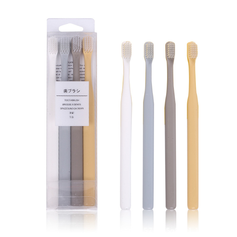 4 Pcs Toothbrush Soft Hair Toothbrush Dental Care Teeth Brush 4pcs Packed 4 Different Color