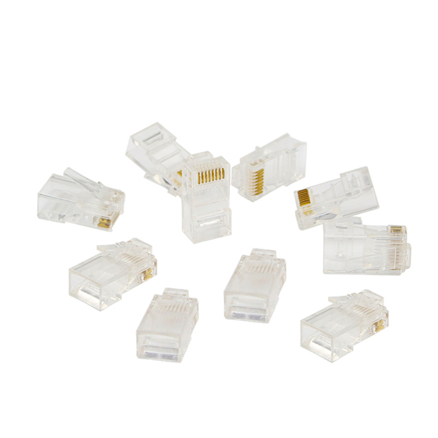 10pcs RJ45 Ethernet Cable Crystal Head Adapter RJ45 Lan Wire ...