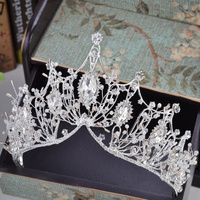 KMVEXO 2018 New Big Baroque Handmade Crystal Princess Crowns for Queen  Rhinestone Tiaras Diadem Wedding Bridal Hair Accessories 2962b69e8c37