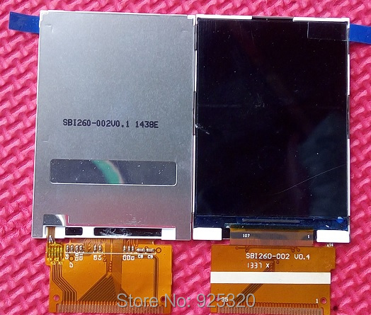 Com número de rastreamento, LCD Original com SBI260-002 FPC para Philips Xenium X5500 Celular display para CTX5500 telefone móvel