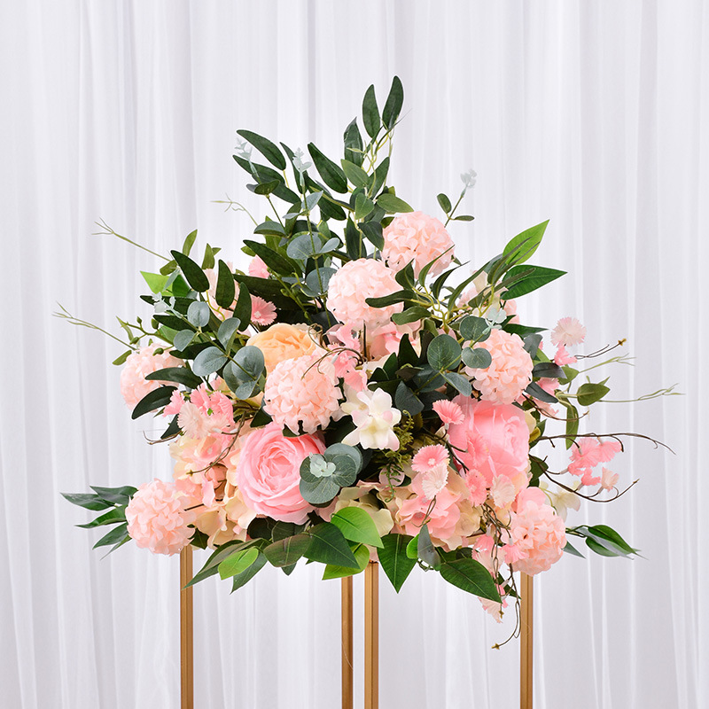 DIY 40*40 Wedding Flower Decor for Iron Arch Artificial Flower Arrangement Supplies Road Lead Cited Flower Row Window T Station