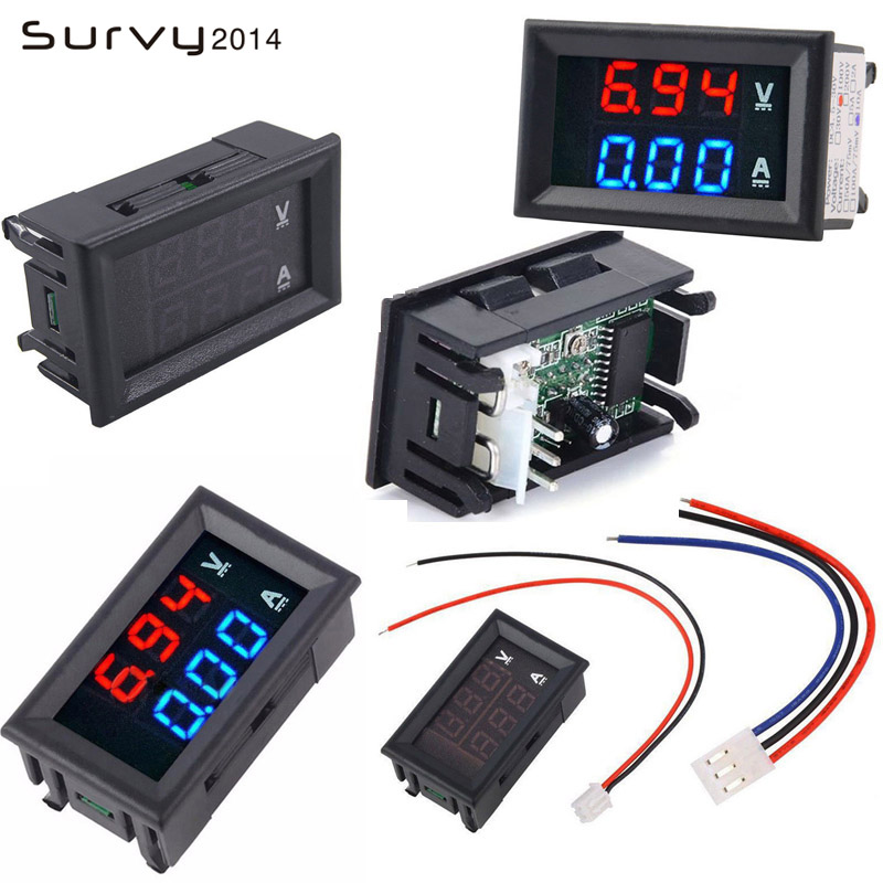 <font><b>DC</b></font> 0-<font><b>100V</b></font> 5/10/20/<font><b>50A</b></font> <font><b>Digital</b></font> Voltmeter Ammeter <font><b>LED</b></font> <font><b>Dual</b></font> Display Voltage Current Indicator Monitor Detector <font><b>DC</b></font> Amp Volt Meter image