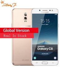 Galaxy C8 (SM-C7100) Super AMOLED FHD 3g/32 gb 4g/64 gb 16 MP фронтальная камера Две sim-карты Восьмиядерный Lte 4G мобильный телефон