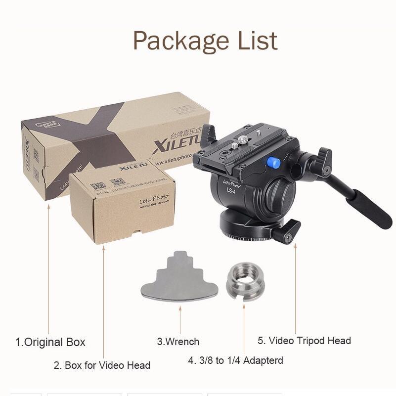 bilder für Professionelle Videokamera Flüssigkeit Drag Stativ Kopf mit Schnellverschluss für Canon Nikon Sony DSLR Kamera Camcorder Schießen