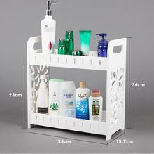 The bathroom shelf receive the bathroom toilet wash gargle cosmetics corner shelf