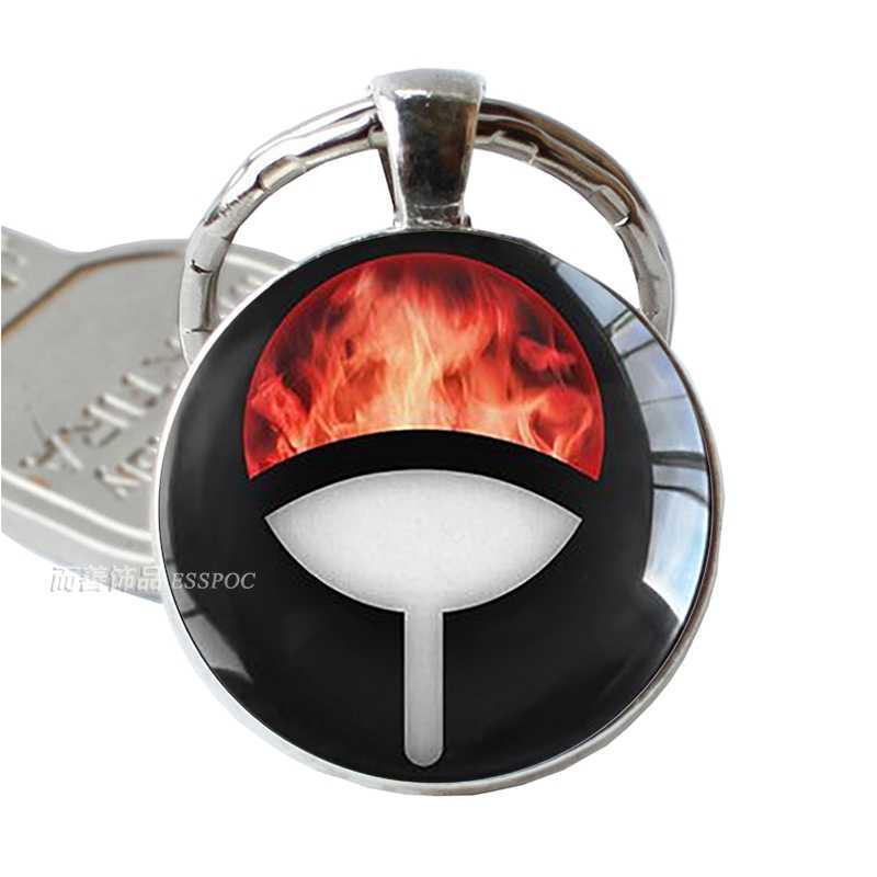 Брелок в стиле аниме Наруто клан Учиха значок Косплей Костюм Наруто Какаши Косплей Sharingan Eyes подвеска брелок для ключей на цепочке брелок