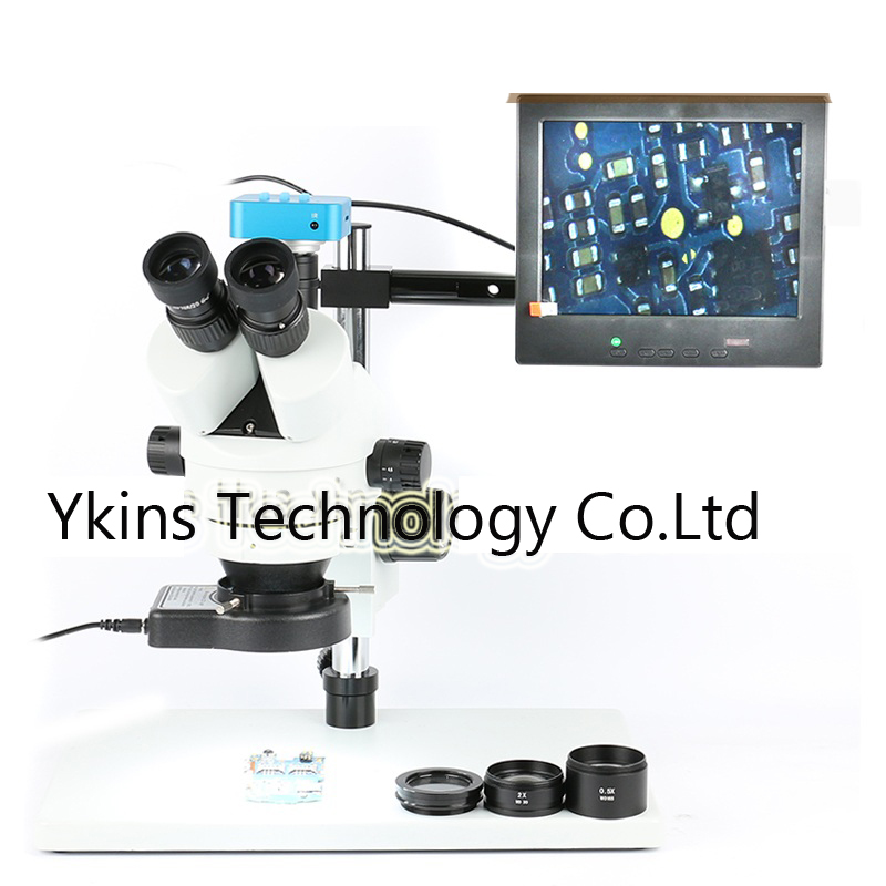 3.5X-90X Trinocular Stereo Microscope Zoom Magnification+16MP 1080P HDMI USB digital Video Camera+144 LED Light+0.5x/2.0x Lens