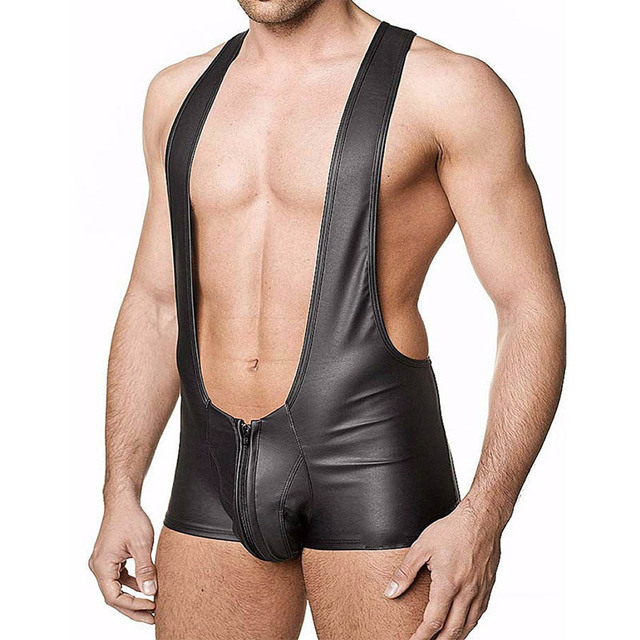 Gay leather wrestling