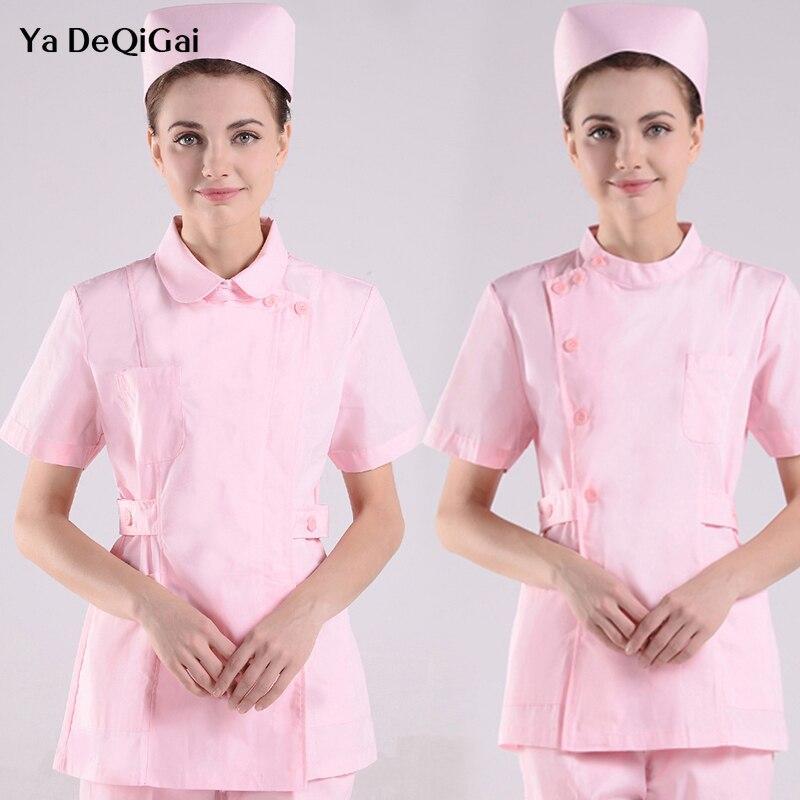 Short Sleeve Nursing Clothes Fashion New Women Medical Uniforms Work Wear Solid Summer Split Suit Surgery Surgical Wash Clothes