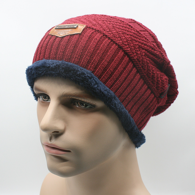 2017 new men warm hats beanie hat winter knitting wool hat for unisex caps lady beanie knitted caps women s hats warm z1 Men Warm Beanie Hat Winter Knitting Wool Hats for Unisex Cap Lady Beanie Knitted Caps Women Hats
