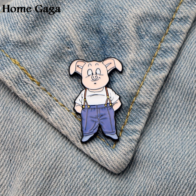 Precise 10pcs/lot Homegaga Dragon Ball Z Oolong Pig Son Goku Zinc Tie Pins Backpack Clothes Brooches For Men Women Badges Medal D1429 Save 50-70% Arts,crafts & Sewing