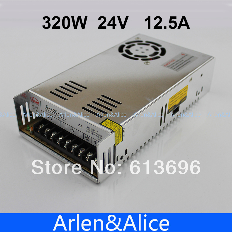 320W 24V 12.5A Single Output Switching power supply for LED Strip light AC to DC SMPS 20w 24v 1a ultra thin single dc output switching power supply for led strip light smps