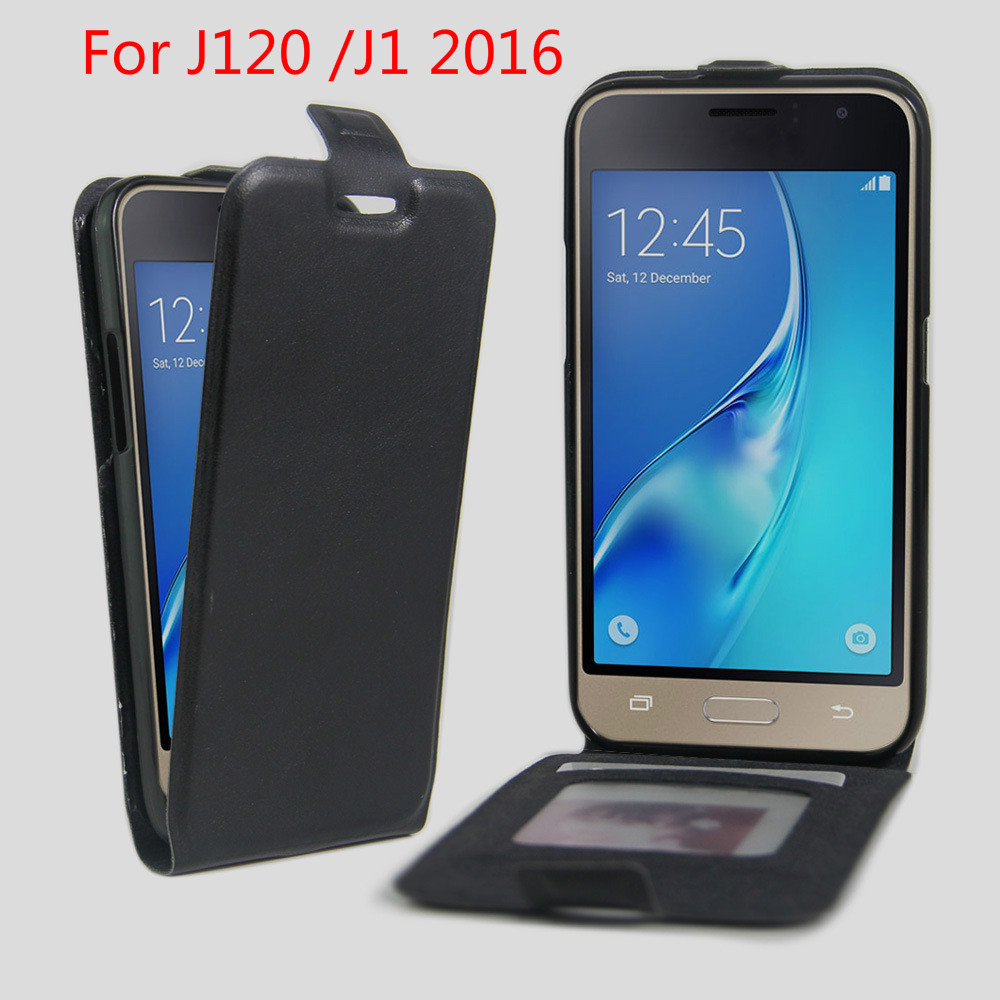 For J1 6 Cases Flip Cover For Samsung Galaxy J1 2016 J1(6) J120F SM-J120F/DS J120 Magnet Leather Mobile Phone Bag + photo frame