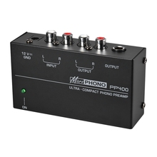Ultra-Compact Phone Preamp Preamplifier With Rca 1/4 Inch TRS Interfaces Preamplificador Phono Preamp(Us Plug)