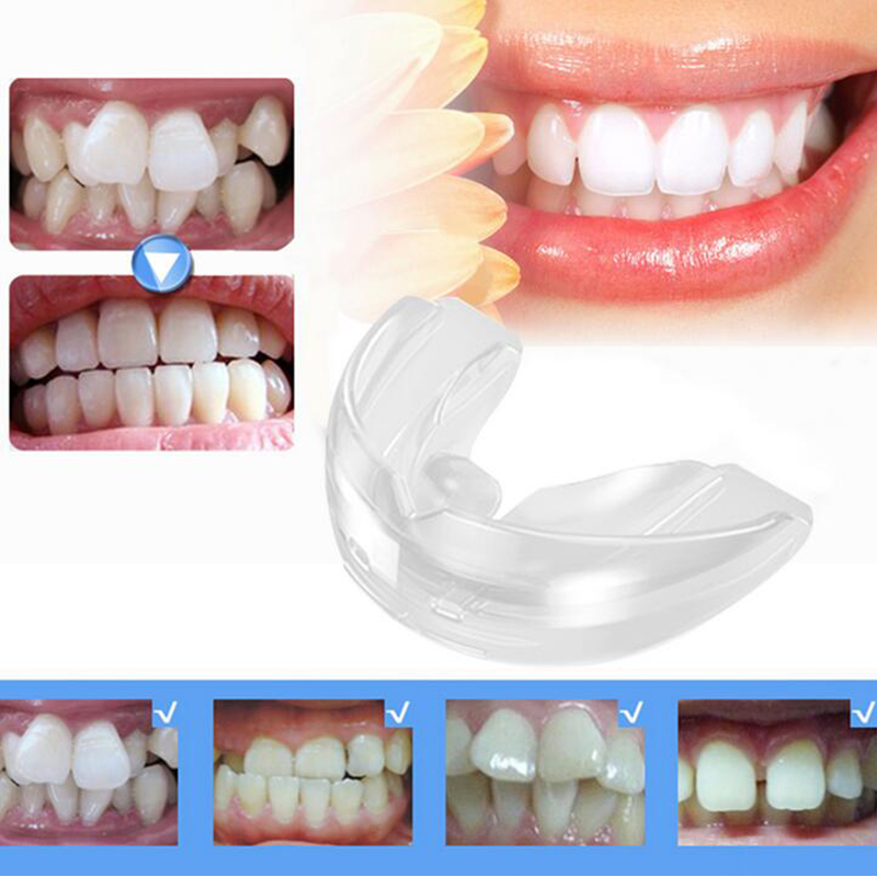 Dental Orthodontic Teeth Corrector Braces Tooth Retainer Straighten Tools teeth capped Transparent