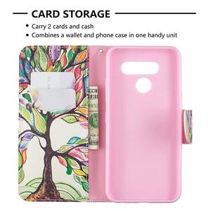 Image 5 - ل LG K50 حالة ، LG Q60 حالة ، محفظة من جلد pu فليب واقية الهاتف حافظة للبطاقات فتحات حامل المغناطيسي إغلاق