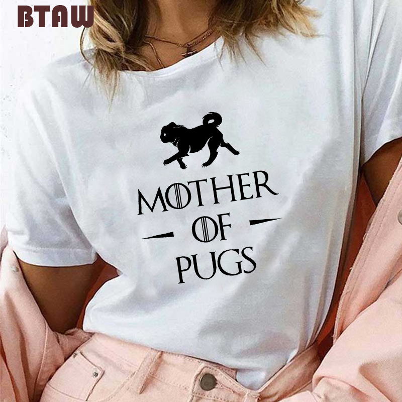 Dracarys <font><b>T</b></font> <font><b>Shirt</b></font> for Women Hot Sale Game 90s Girl Tshirt Summer Mother of <font><b>Pugs</b></font> Harajuku Funny Tops Tees Vogue Aesthetic Clothes image