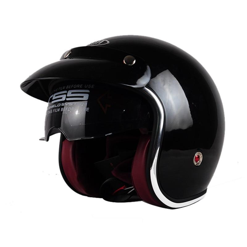 Vcoros new vintage motorcycle helmet man women 3/4 harley scooter jet helmets pilot open face vespa helmet moto casque DOT