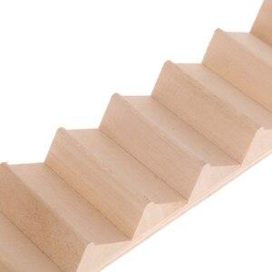 Image 4 - 2 조각 1/12 규모 나무 11 단계 계단 계단 DIY 액세서리 인형 집
