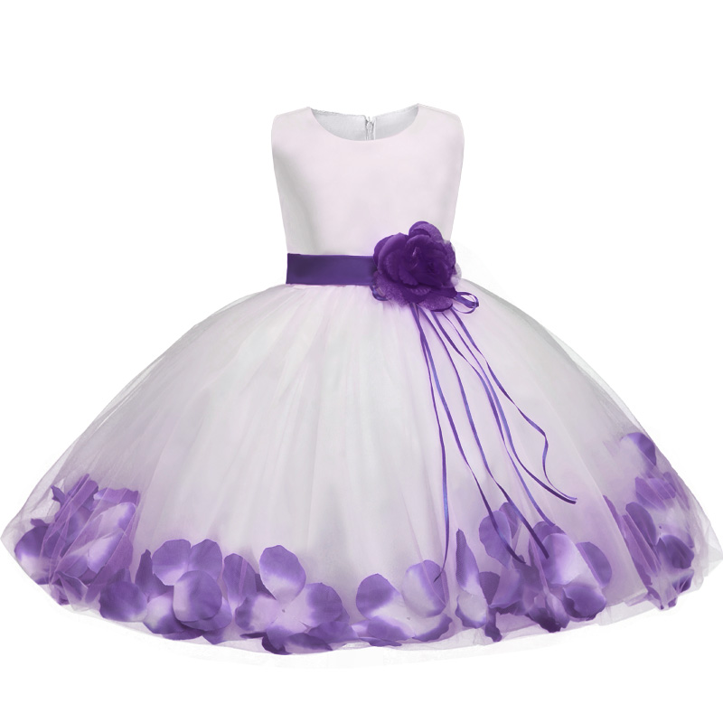 bd7b1be814a8 Newborn Dresses For Baby Girls Flowers Toddler Christening Gown Kids ...