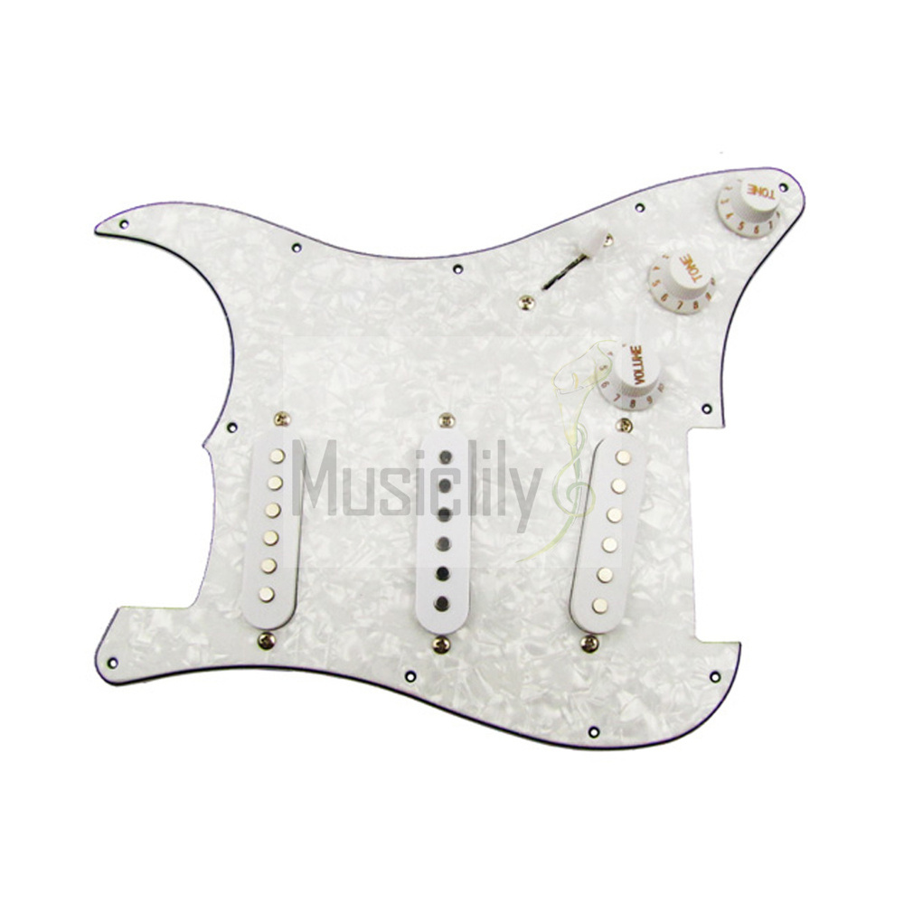 buy pearl white 3 single coil pickup loaded pre wired sss pickguard set for. Black Bedroom Furniture Sets. Home Design Ideas