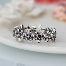 b1bb0db28 New Arrival Dazzling Daisy Genuine Pandora Ring compatible Silver color Wedding  Rings For Women Jewelry Accessories