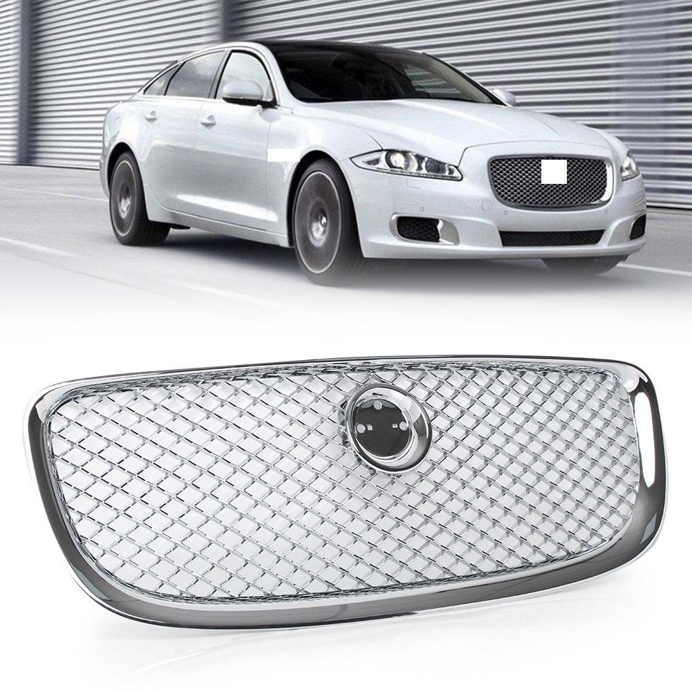 Aliexpress Com Buy Chrome Front Upper Grill Grille For: Set Chrome Front Bumper Upper Center Grille Grill