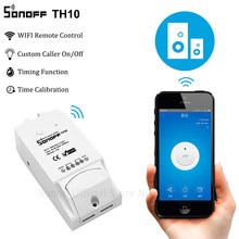 Sonoff interrupteur intelligent Wi-Fi, TH10, interrupteur sans fil 10A 2200 W, Modules de domotique intelligents avec capteur de température, moniteur d'humidité(China)