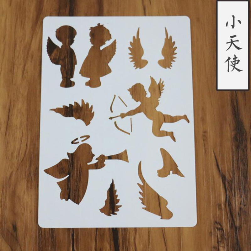 1pc Stencil Little Angel Templates Crafts Wall Graphics Painting Scrapbooking Stamp Ornament Album Embossed Template Reusable