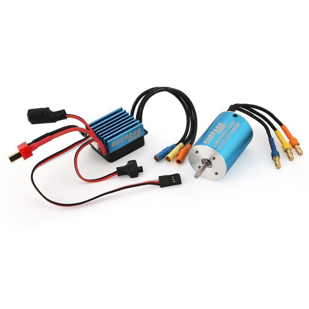 2838 4500KV 4P Sensorless Brushless Motor and 35A Brushless ESC for 1/16 1/18 RC Car RC Boat rc 10a brushed esc motor speed controller for rc car boat tank without brake esc for 1 16 1 18 1 24