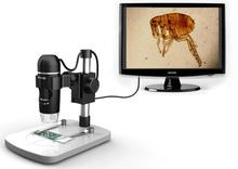 Professional USB Digital Microscope True 5M Pixels  20X-300X  Magnifier With 8 LED UM012C  Measurement+Precise Stand