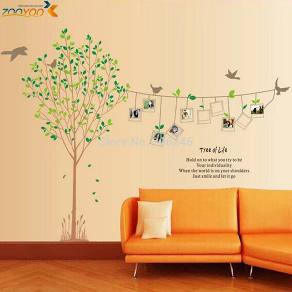 photo frame tree wall stickers for kids rooms ZooYo215ab home ...
