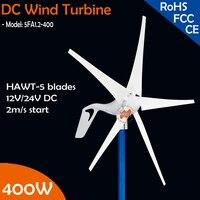 400W 12V Or 24V DC 5 Blades Built In Controller Module Wind Turbine Generator Only 2m