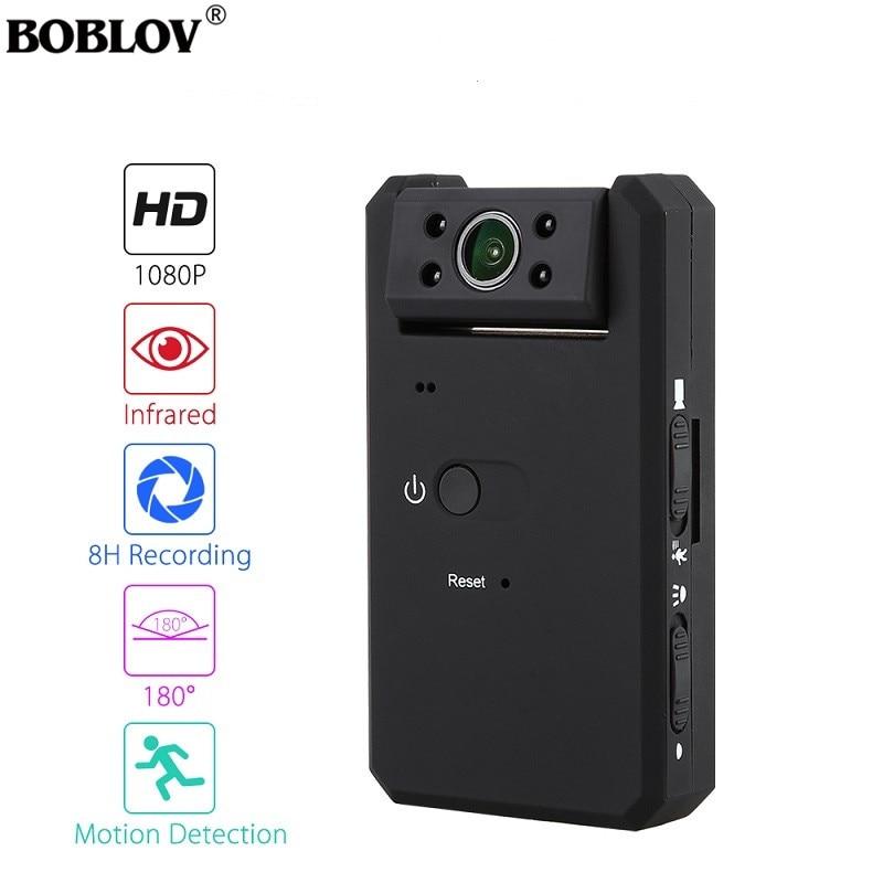 BOBLOV MD90 Mini DV Camara De Filmar Ocultas 1080P Infrared Night Vision Mini Camcorder With 180 Degree Detective Mini Filmadora