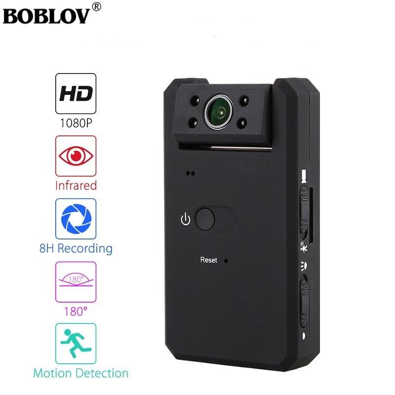Boblov md90 mini dv camara de filmar ocultas 1080 p visão noturna infravermelha mini filmadora com 180 graus detetive mini filmadora