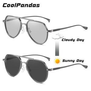 Image 4 - Высококачественные алюминиевые фотохромные солнцезащитные очки, поляризационные мужские и женские очки для ночного видения, желтые очки для вождения gafas de sol