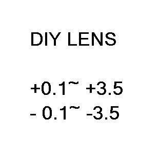 Diy dioptria lente miopia lente miopia lente de óculos de grau
