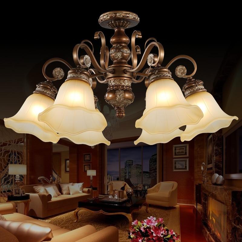 Classical Resin Chandelier Light European Style Chandelier Lighting Living Room Bedroom Lamp