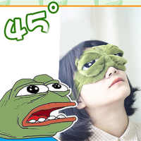 3D Sad Frog Sleep Mask Cute Rest Travel Relax Sleeping Aid Blindfold Ice Cover Eye Patch Sleeping Mask Anime Cosplay Costumes