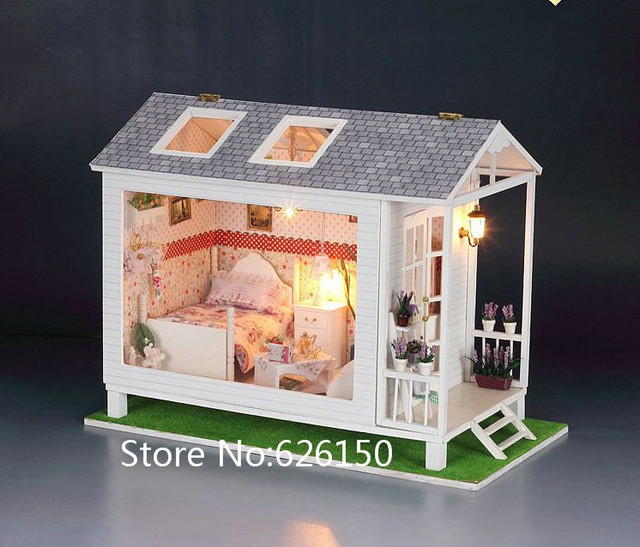DIY large wooden doll house miniatures for kids,wood house kits for doll, doll home set for kinds gift girlfriend gifts